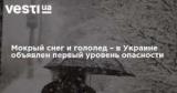 Мокрый снег и гололед – в Украине объявлен первый уровень опасности