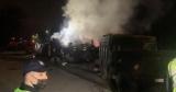 Смертельное ДТП в Киеве: грузовик с легковушкой столкнулись, взорвались и загорелись. Видео