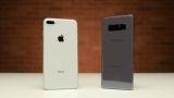 Битва на міцність між iPhone 8 Plus і Galaxy Note 8